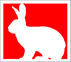 F0110W logo white bunny red background